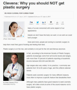 Why you should NOT get plastic surgery