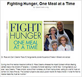Fighting Hunger, One Meal at a Time Melbourne Florida